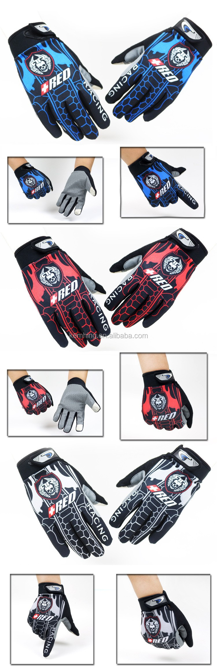 2017 Sports glove touch screen glove Training sports football Gloves bike motocross glove