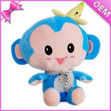 wholesale stuffed monkey keychain toys,blue monkey stuffed animal