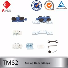 wood hanging sliding door track and wheels hardware