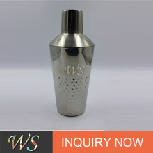 customizing silver or copper plated and hammered finished cocktail boston shaker