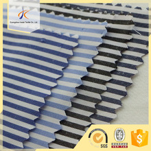 OEM cheap price 80 cotton 20 polyester stripe pattern woven cvc shirt fabric