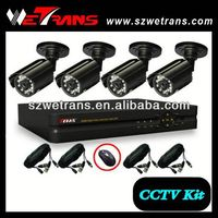 WETRANS 850TVL 4CH CCTV Analog Low cost Home Security Camera Systems
