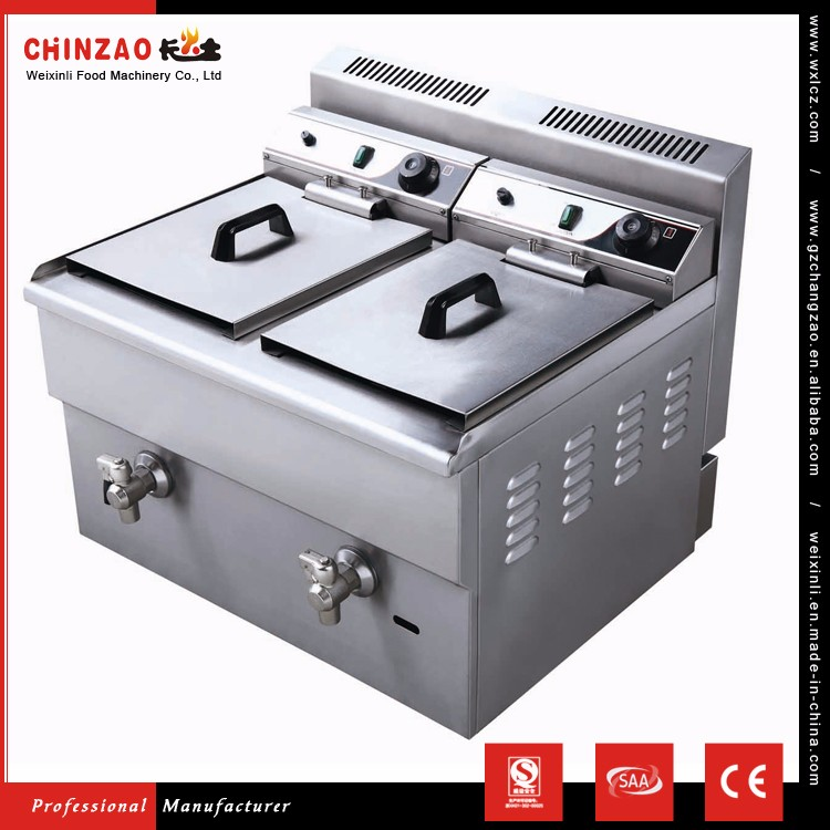 Restaurant Commercial LPG Gas Deep Fryer with Temperature Controller