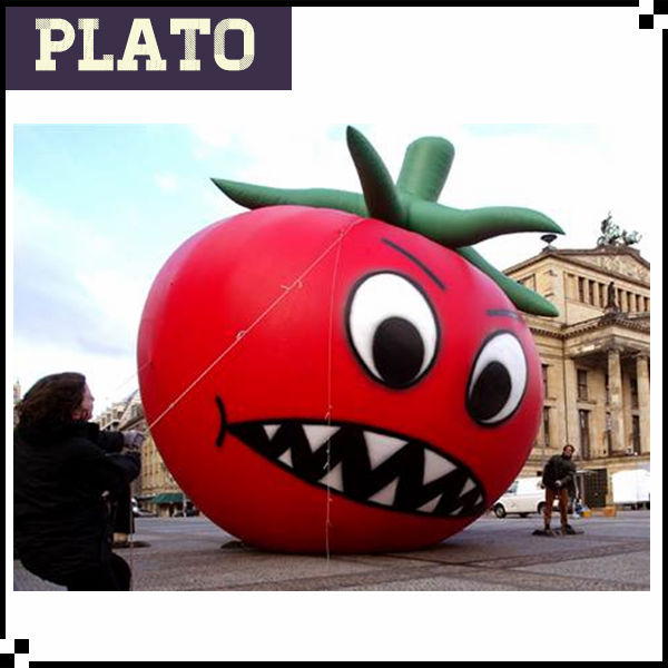 Funny inflatable tomato for advertising