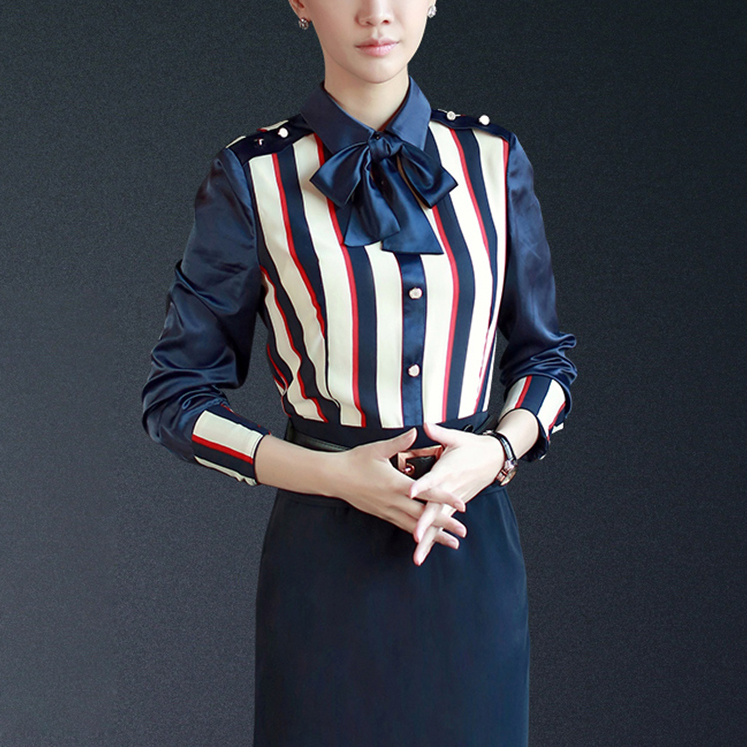 Office ladies dress suit skirt, white-collar business stripe dress suit, custom made
