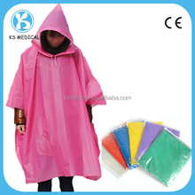 High quality disposable PEVA rain poncho,PEVA rain coat