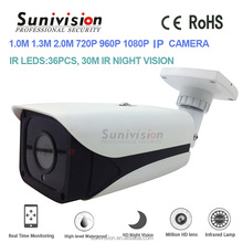 NetWork technology Support ONVIF 2.0 H22 image sensor 720p 1.0MP bullet network p2p ip camera