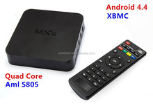 2015 New Original MXQ TV BOX Amlogic S805 Quad Core Android 4.4 Kitkat Airplay Miracast 3D with fast Shipping XBMC,skype,email
