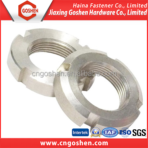 GS high quality slotted round nuts