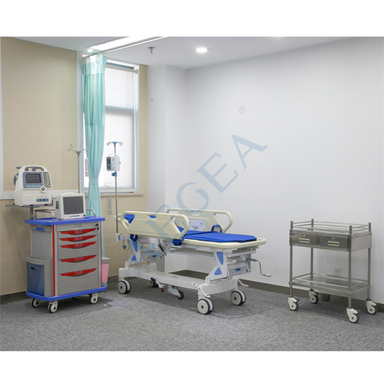 AG-HS011 ward nursing equipment stainless steel patient transfer surgical hospital portable stretchers size