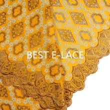 2016 African hot selling swiss voile laces switzerland dry cotton lace fabric with stones
