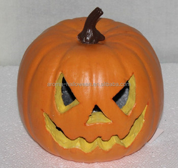 halloween decoration artificial foam pumpkin w/lace