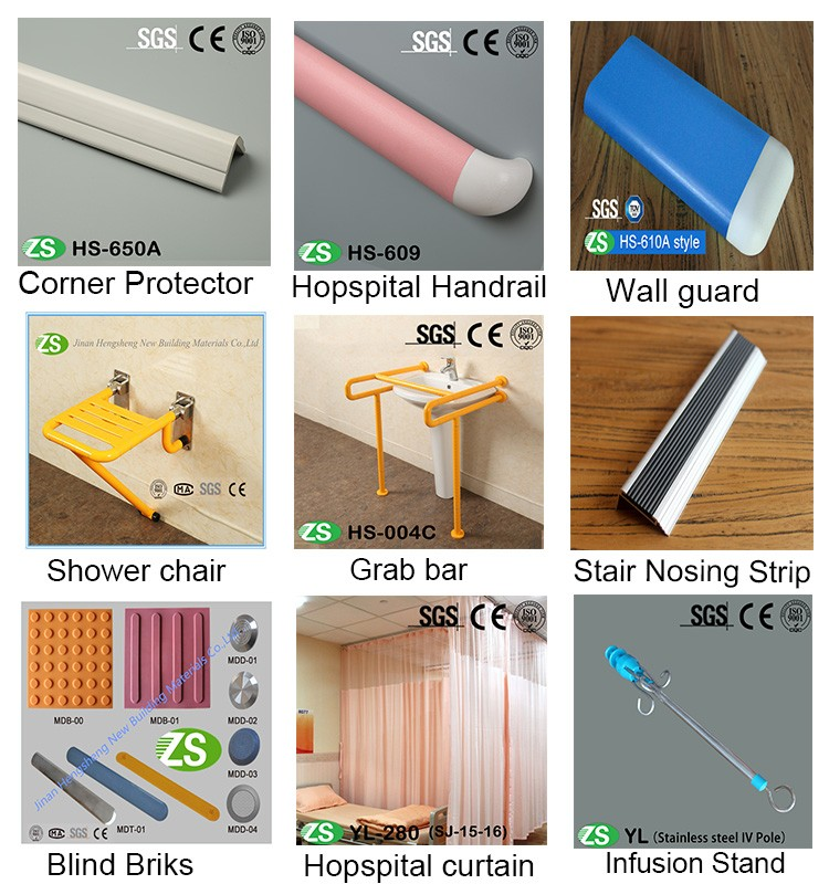 Self-Extinguishing ABS Bath Tub Shower Safety Grab Rail