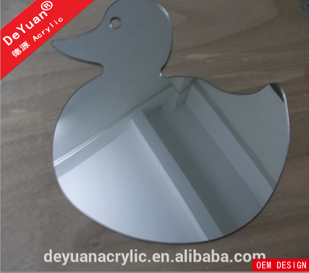 Decorative bathroom wall mirror sheet with customized shape