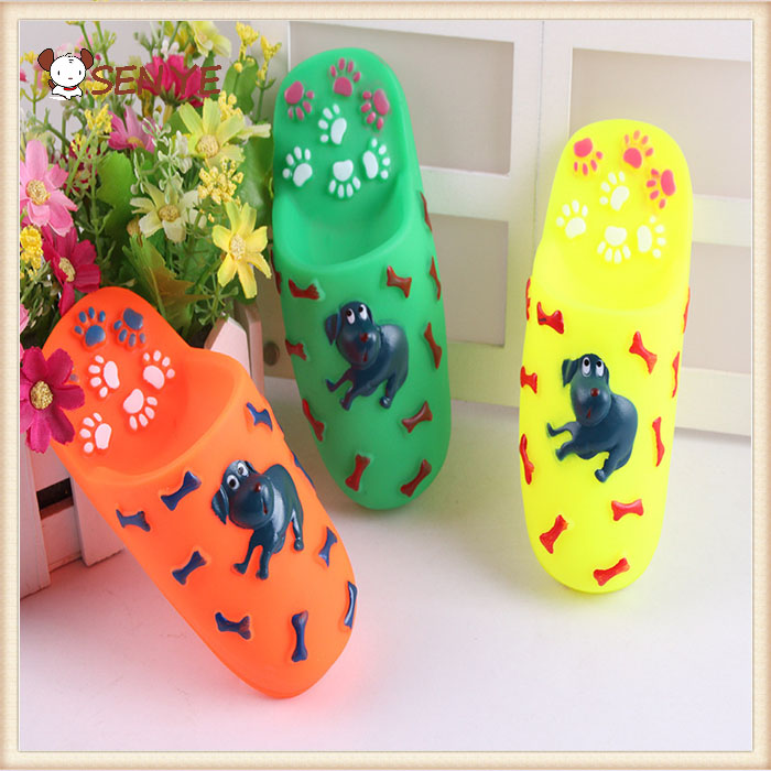 Perfect Designed Colorful Soft Rubber Squeak Resistant shoe shape Dog chew shoe pet toy