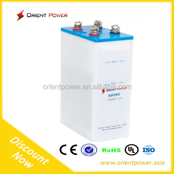 nickel-iron battery 1.2V 150Ah Specially designed for solar PV system Military quality more than 25 years life