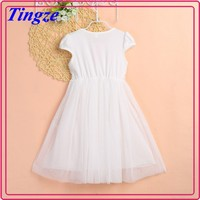 Newest Korean kid clothing girls princess skirt short-sleeved birthday mini dress for girl of 7 years old
