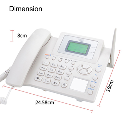 Good Voice Quality GSM Wireless Phone Set/Cordless Phone Set with Rechargeable Battery (1 SIM Card+Two-way SMS+1 Year Warranty)