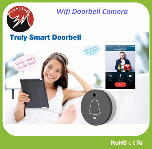 Home Security Real-time Video Wireless Wifi Smart Door Bell for Apartments with Built-in Mic Speaker
