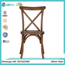 Wooden design X back chair restaurant cross back dining chairs