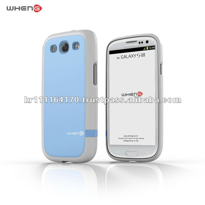 mobile Accessory for SAMSUNG Galaxy S3 I9300 (White / Sky blue)