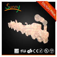 christmas silhouette deco decoration flame LED train light