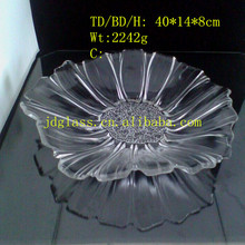 hot sale fruit plate glassware for restaurant