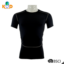 Wholesale price men's plain black short sleeve sexy slim gym sport man blank wholesale slim fit t shirt for men