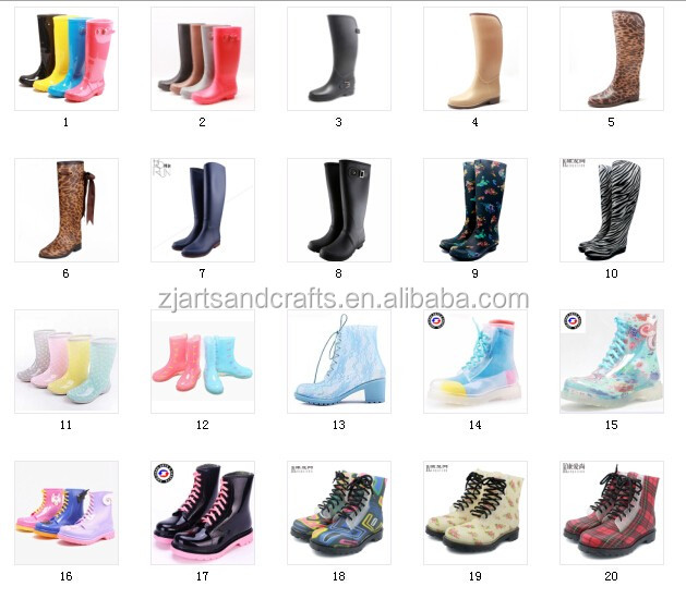 Wholesale china fashion elastic pvc rain boot women Gardenboot with Comfortable Insole