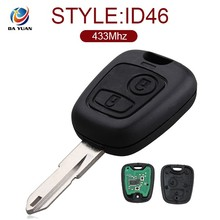 AK009024 Remote key for Peugeot 206 207 2 Button Smart card 433MHZ ID46