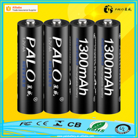 Promotional cheap price 1300mAh 1.2V AA rechargeable battery with packaing