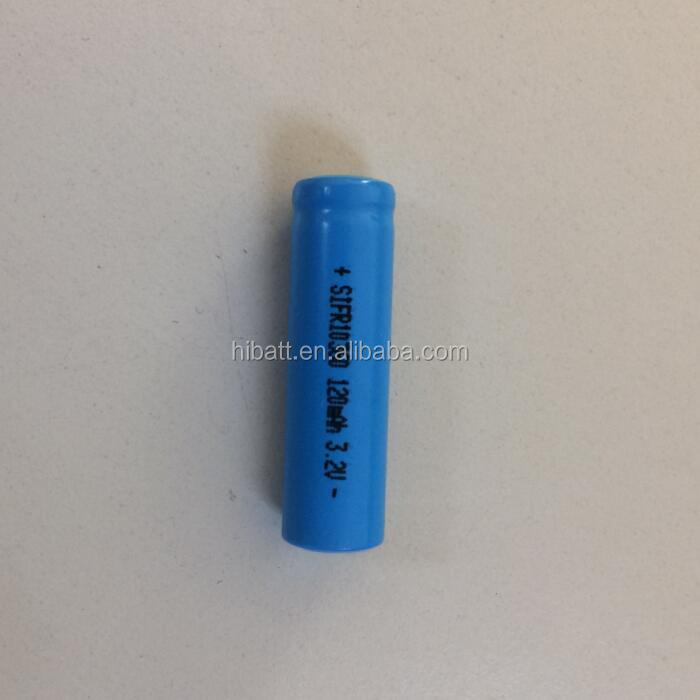 Rechargeable IFR10360 3.2v 120mah lifepo4 cylindrical battery