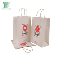 2019 Hot Selling White Kraft Paper Bag Food Packaging Bag with Customized Logo