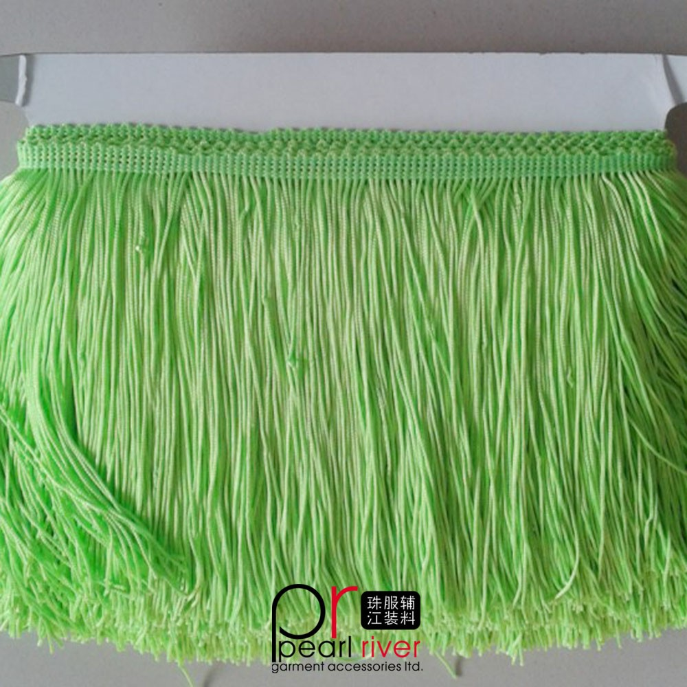 Modern fashion crystal dress fringe tassel, decorative silk tassels fringe for latest fashion dresses