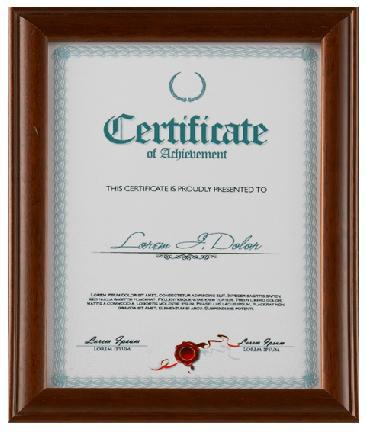 new arrive high-quality Certificate frames for Walls