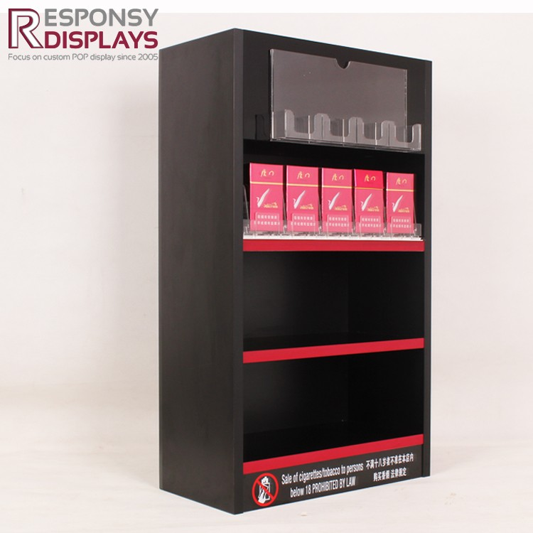 Firmly Acrylic And Metal Cigarette Backwall Fabric Display Rack