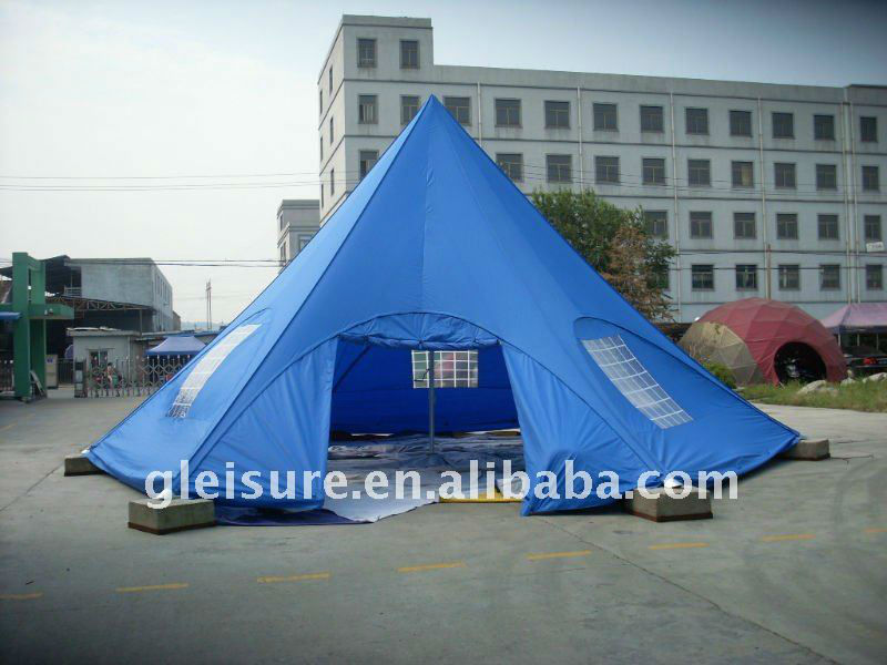 blue star tent door wall