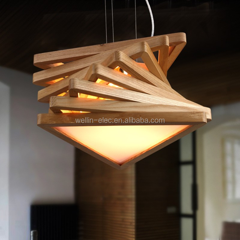 China Factory Wood Material Pendant Light