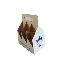 foldable 4 pack cardboard carton box corrugated 6 pack bottle beer carriers 6 pack beer bottle holder