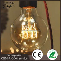 Retro Vintage style lighting lamp glass bulb / Hanging Pendant Lamp Vintage Incandescent 110v/220v G95 Edison Light Bulbs
