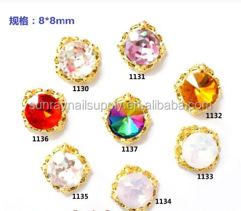 New alloy 3D nail decoration ornament with beautiful diamond cyrstal