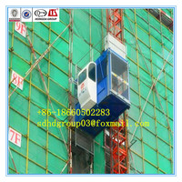 4 ton outside construction lift, double cages, SC200/200 construction elevator 2x2000kg best price for sale