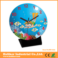 colorful acrylic table clock