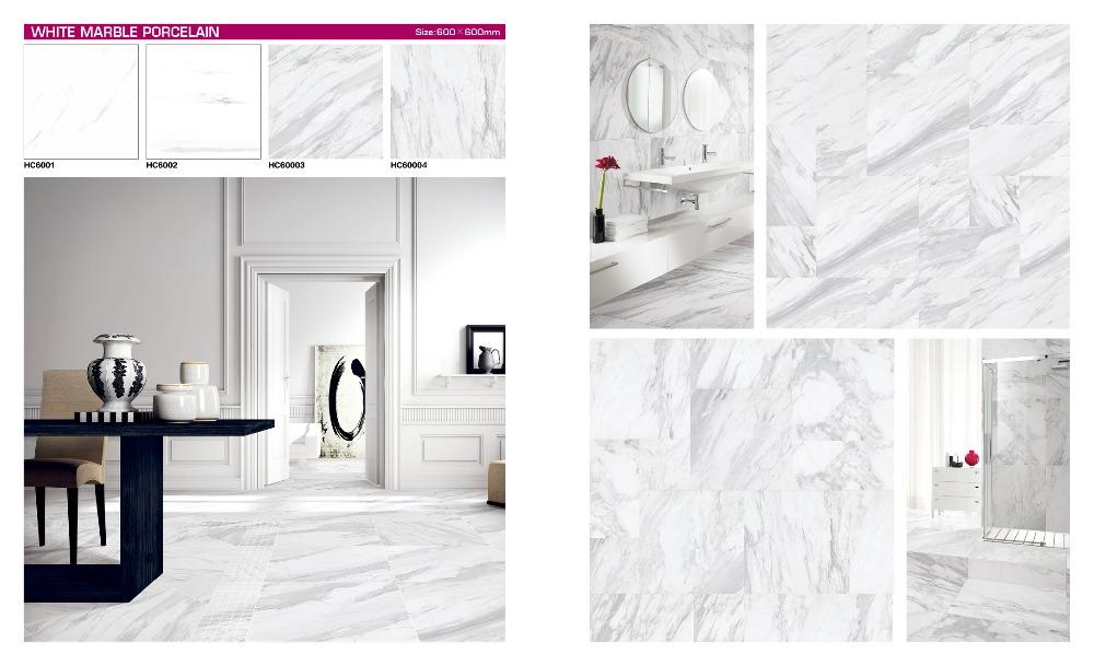 White marble ceramic tile