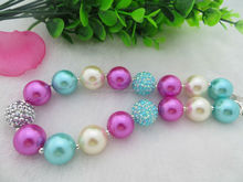 Frozen Color Acrylic Chunky Necklace for Girl Kids Chunky Necklace Jewelry Wholeasales