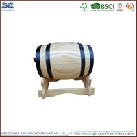 china supplier small beer kegs, various sizes and colors wooden barrels for beer/wine