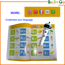 Thai language children's song oid video point reading pen for kids