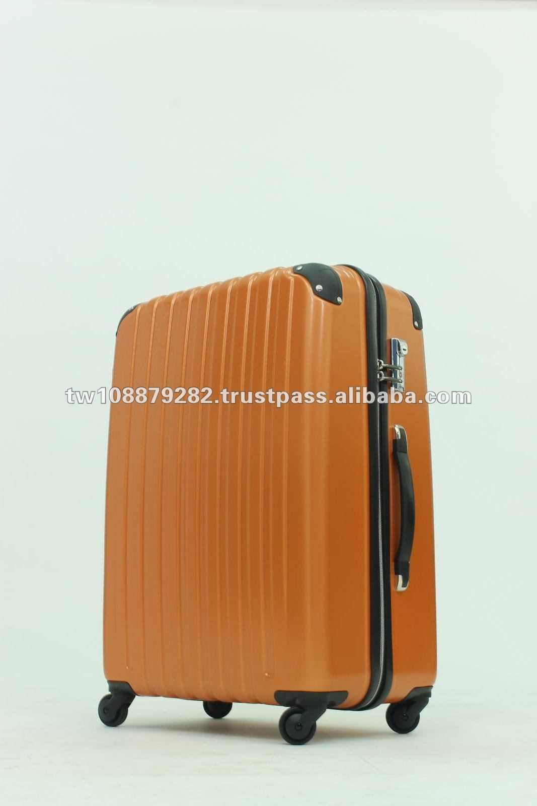 New Design Zipper Style PC Hard Suitcase Trolley Case