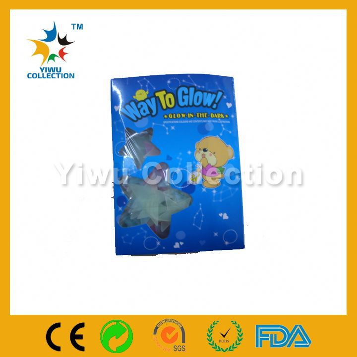 dinosaur glow sticker,pvc transparent film 9 clear sticker,star shaped stickers shining in the dark