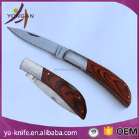 3Cr13 stainless steel wood handle pocket knife hand